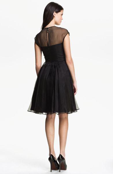 Ted Baker Embellished Silk Fit Flare Dress In Black Lyst