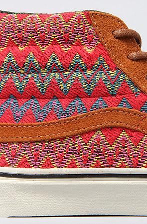 Lyst - Vans The Sk8 Hi Slim Ca Sneaker in Brown and Red Zig Zag in Brown b65f25eee26e