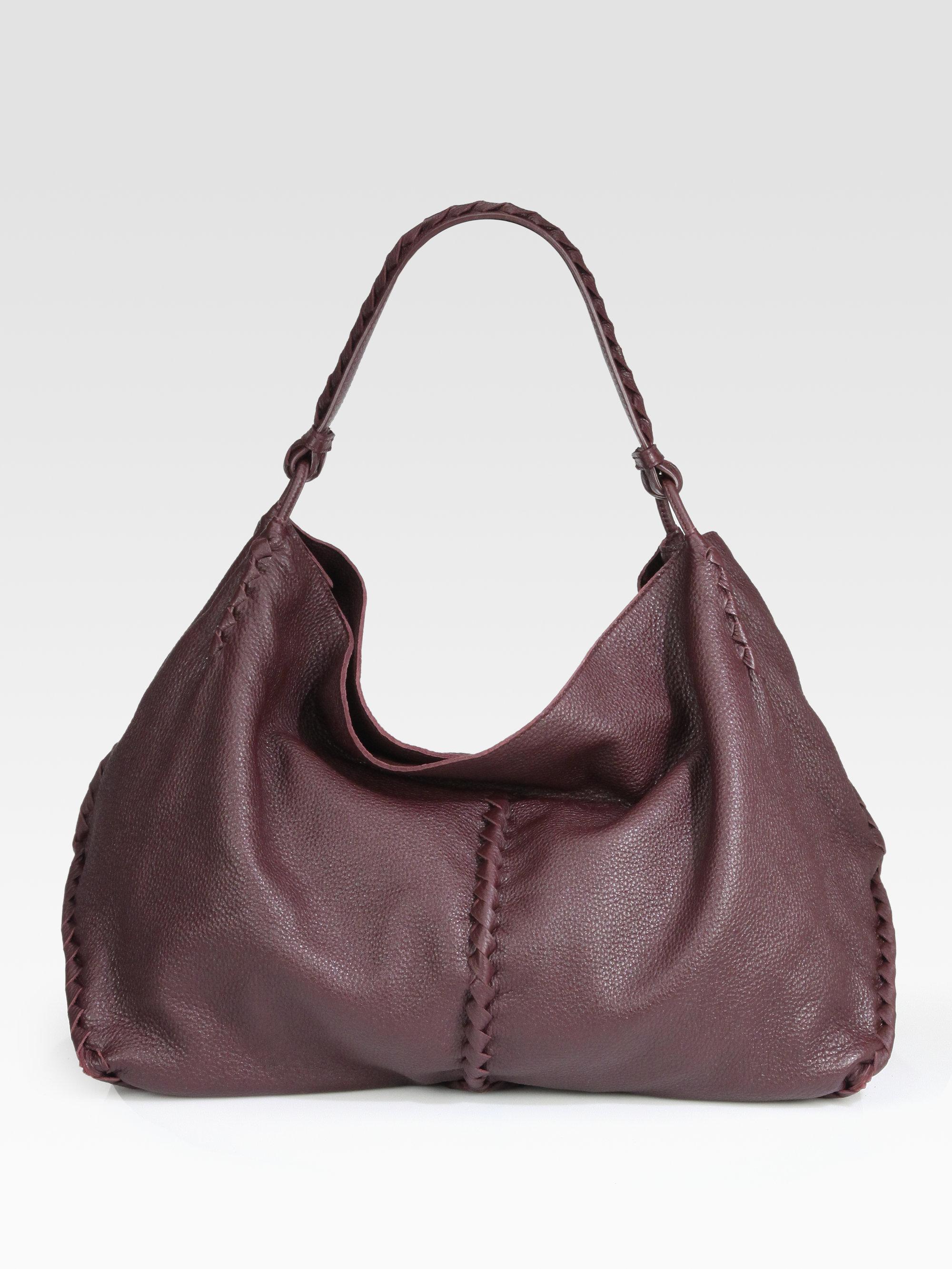 9bb0148de27 Lyst - Bottega Veneta Cervo Large Hobo Bag in Brown