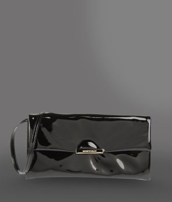 Emporio Armani Varnished Leather Bag - Lyst