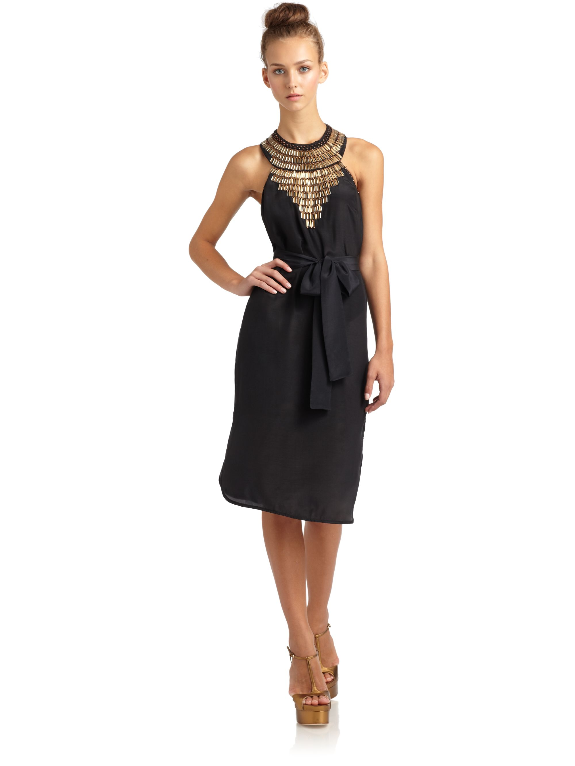 Black dress house of fraser -  French Connection Ombre Bark Dress House Of Fraser