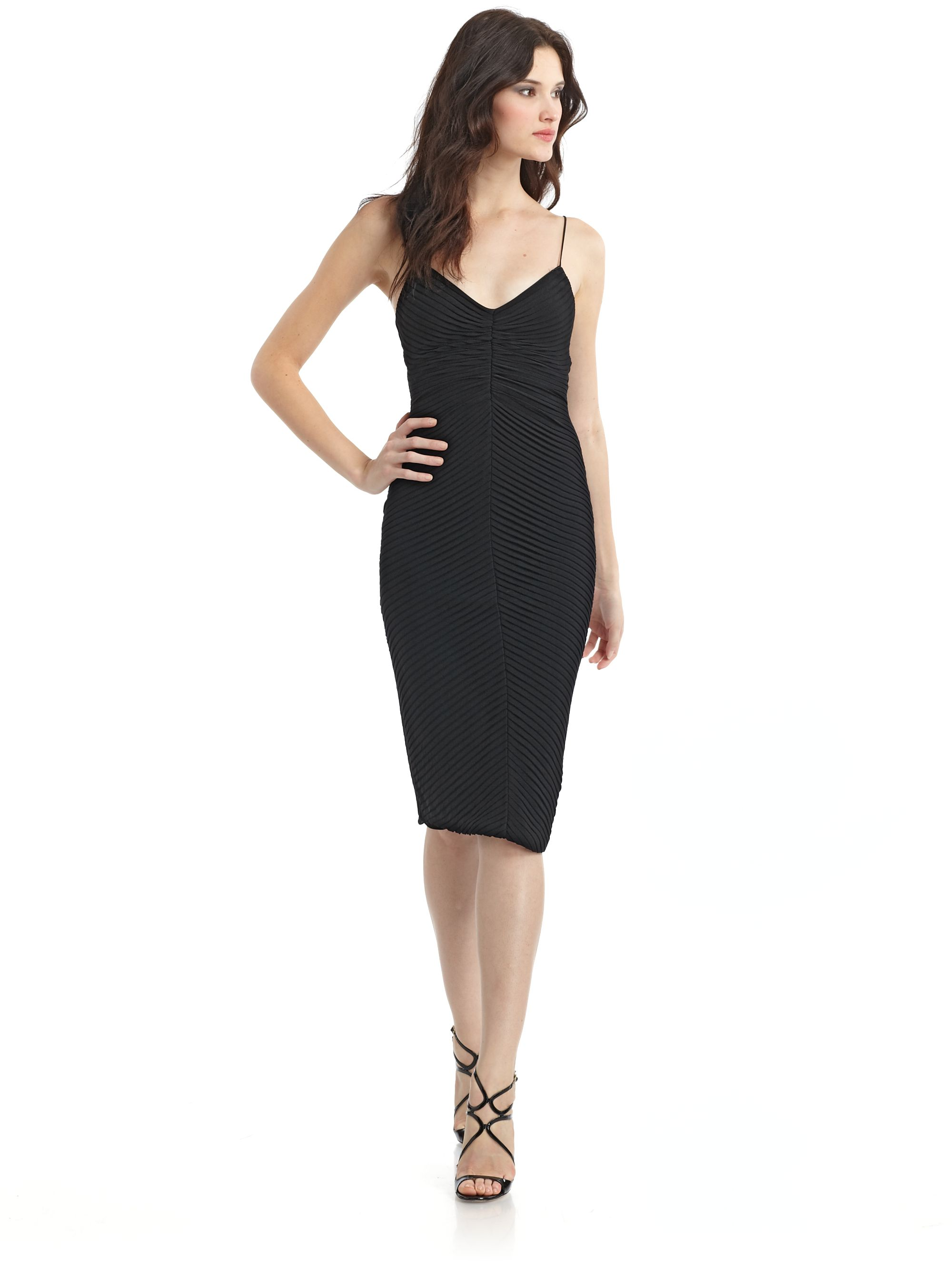 Giorgio armani Deep V Dress in Black