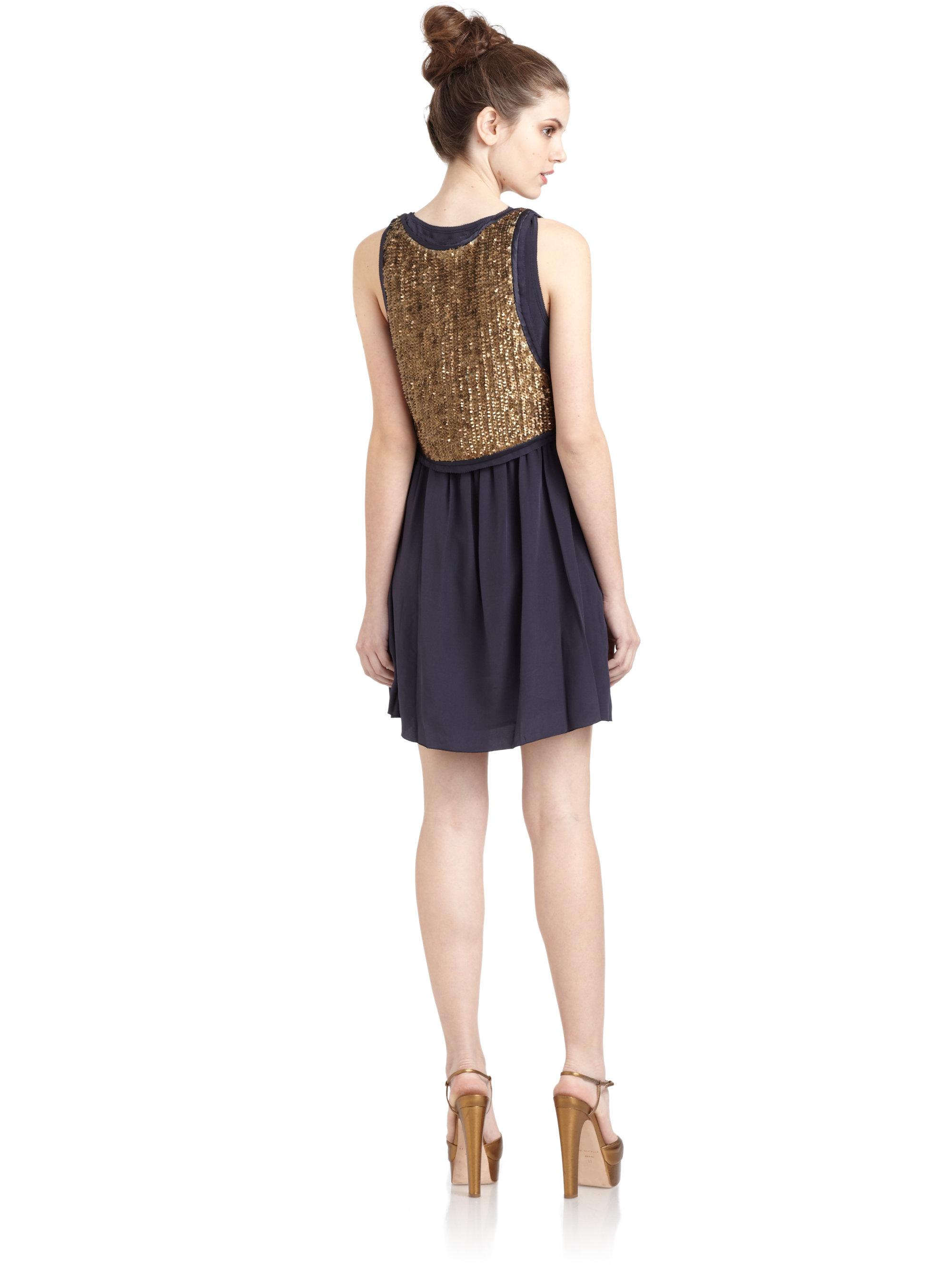 Metallic Sequin Dress