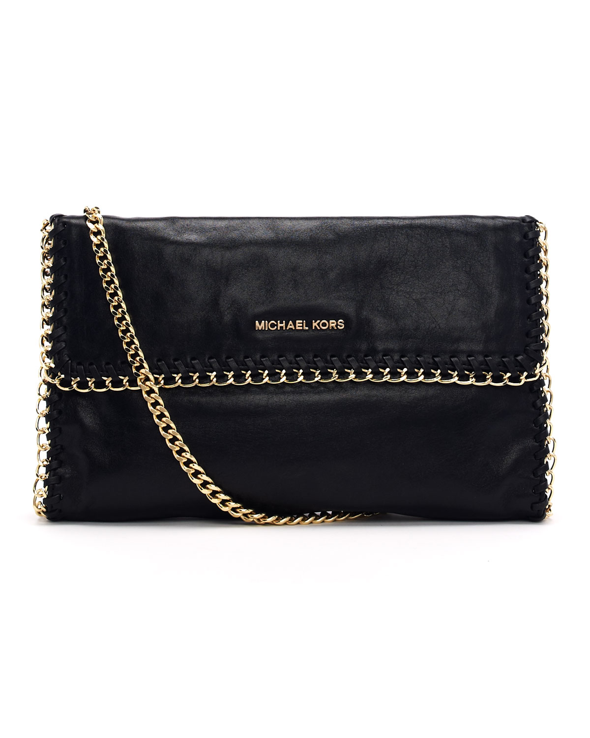 michael michael kors oversize chelsea clutch bag in black lyst. Black Bedroom Furniture Sets. Home Design Ideas