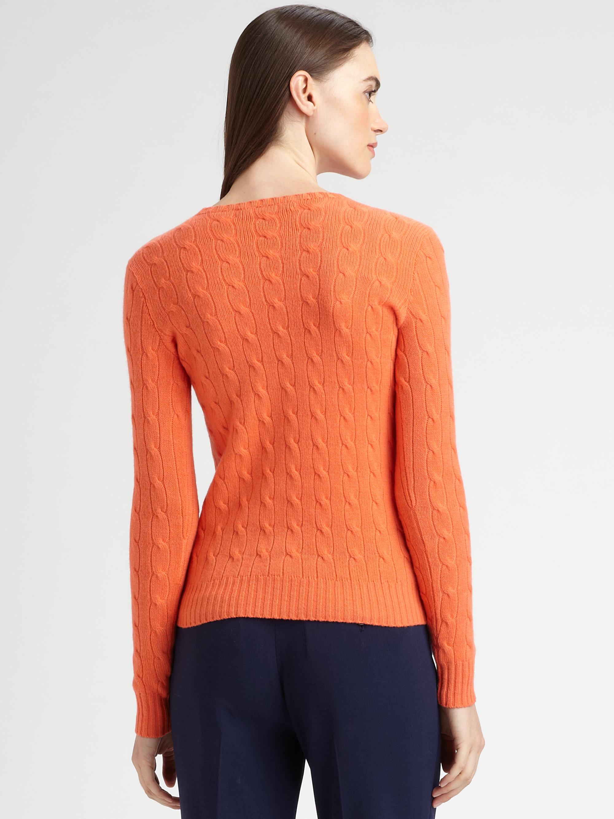 d9bcaf2e1 Ralph Lauren Black Label Cashmere Cableknit Crewneck Sweater in ...