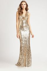 Badgley Mischka Sequined Gown