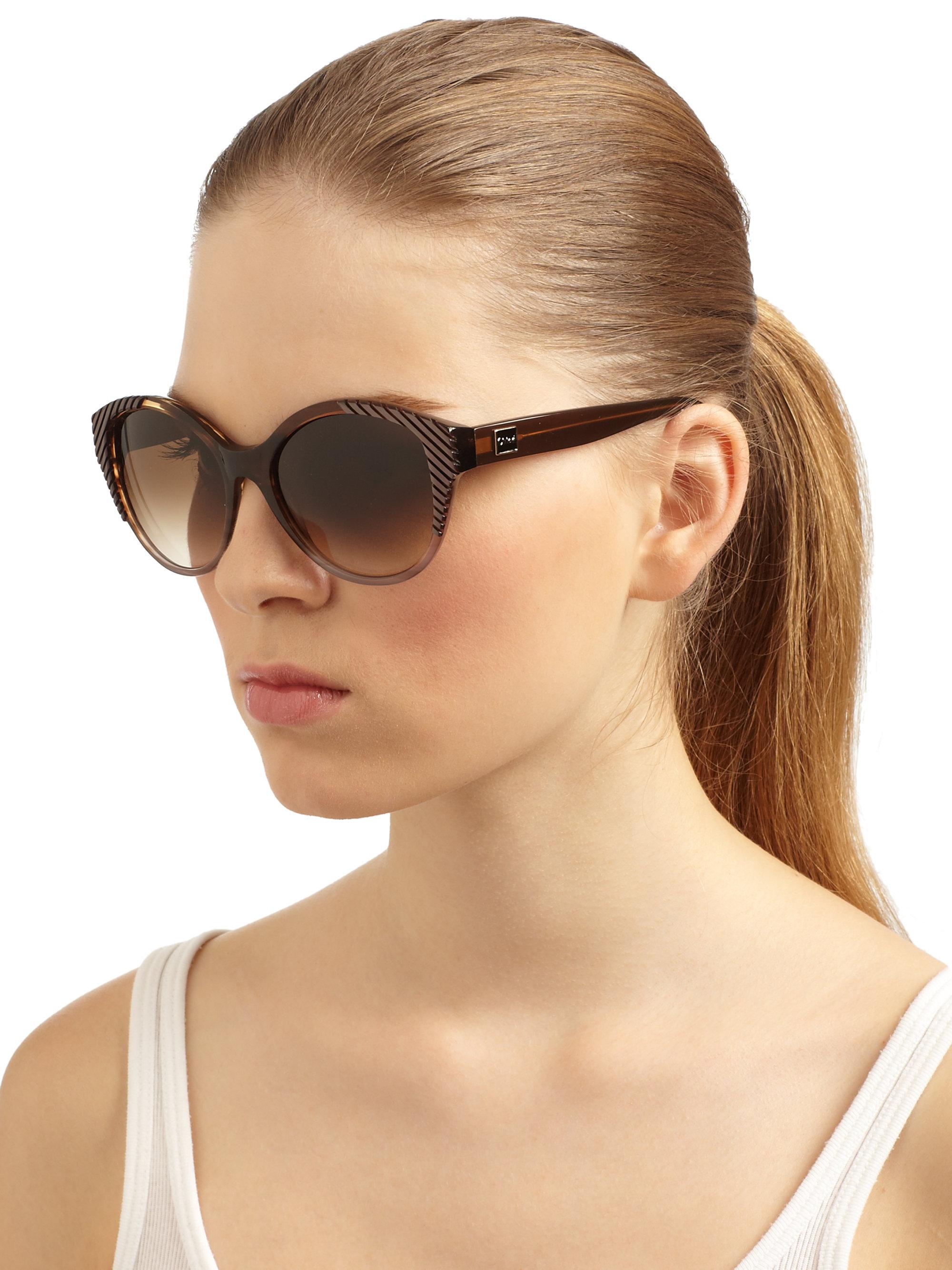 ba3fe6de315 Lyst - Chloé Cat Eye Acetate Sunglasses in Brown
