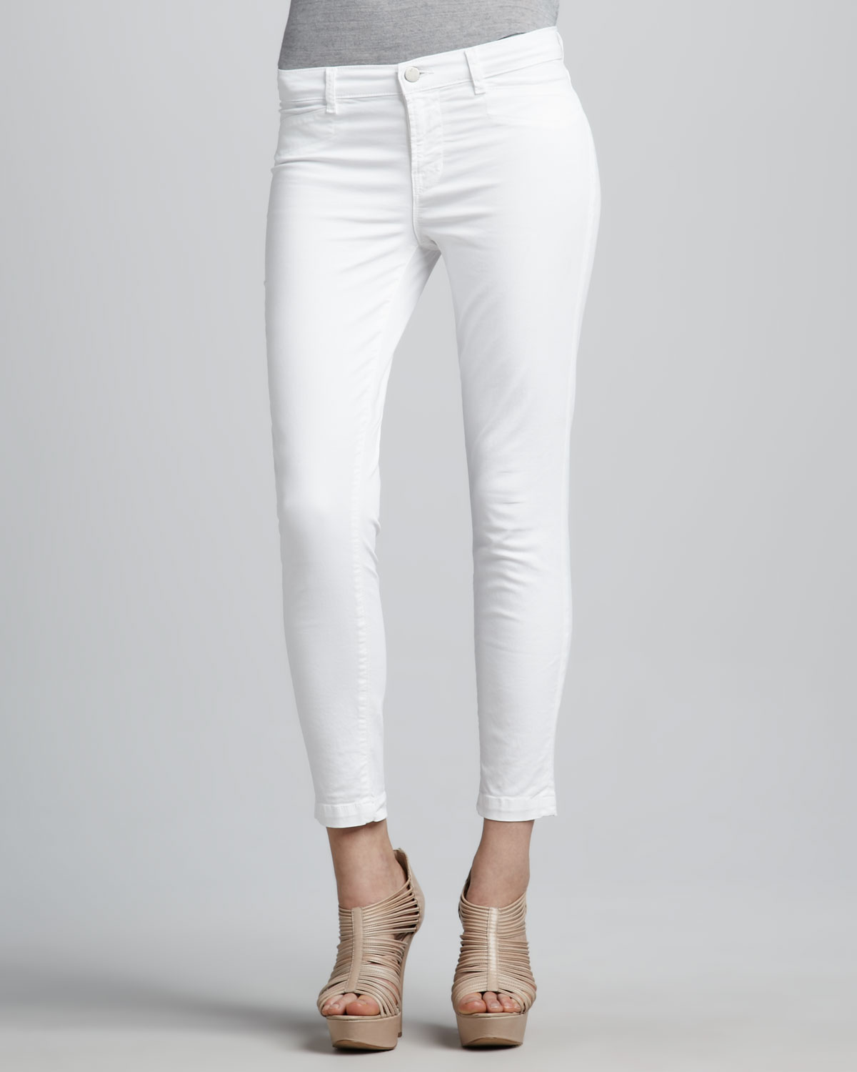 J brand Harper Capri Pants in White | Lyst