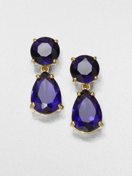 Kate Spade Faceted Drop Earrings in Blue