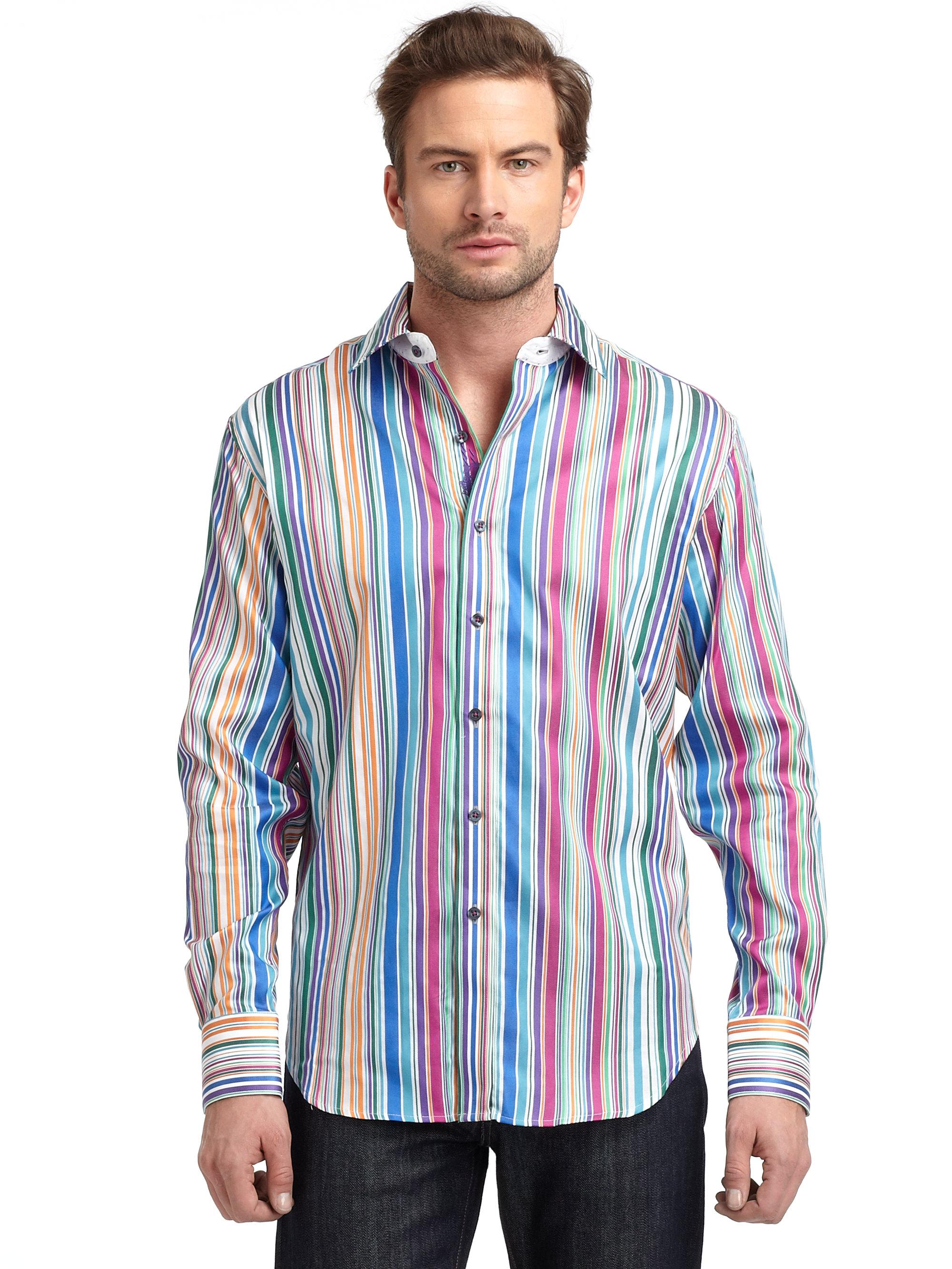 Robert Graham Button Down Shirt in Multicolor for Men ... Robert Graham Designer