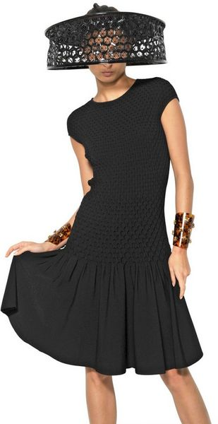 Fully Fashioned Knitting : Alexander mcqueen fully fashioned viscose knit dress in