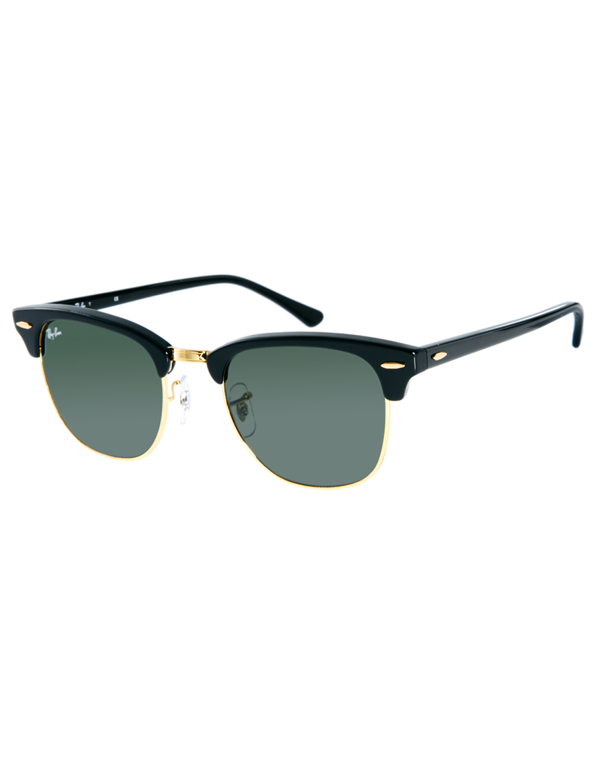 lyst ray ban clubmaster sunglasses in black for men. Black Bedroom Furniture Sets. Home Design Ideas