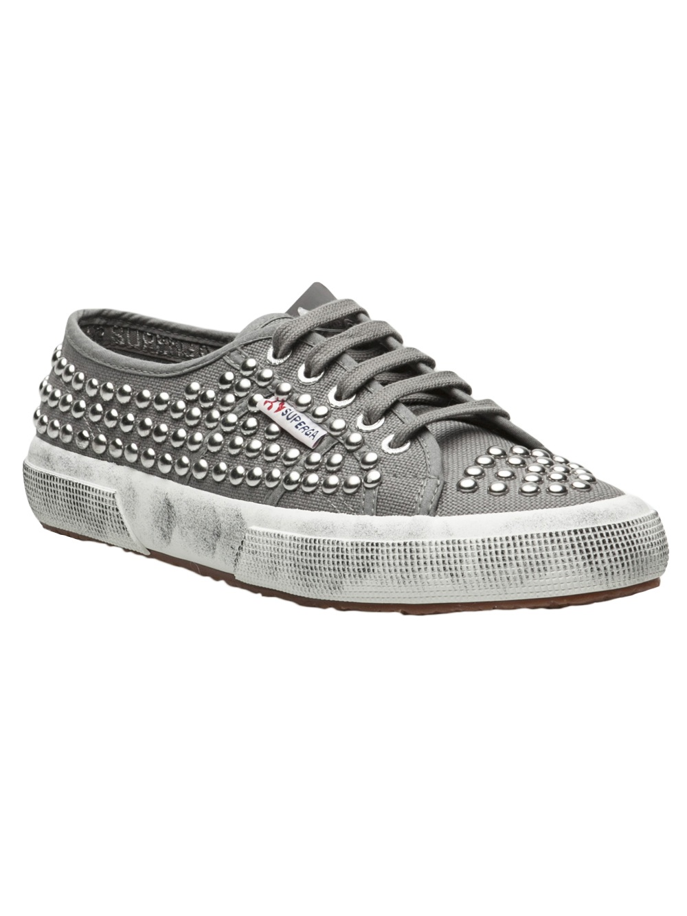 f12d7015cafb Superga Cotu Studded Sneaker in Gray - Lyst