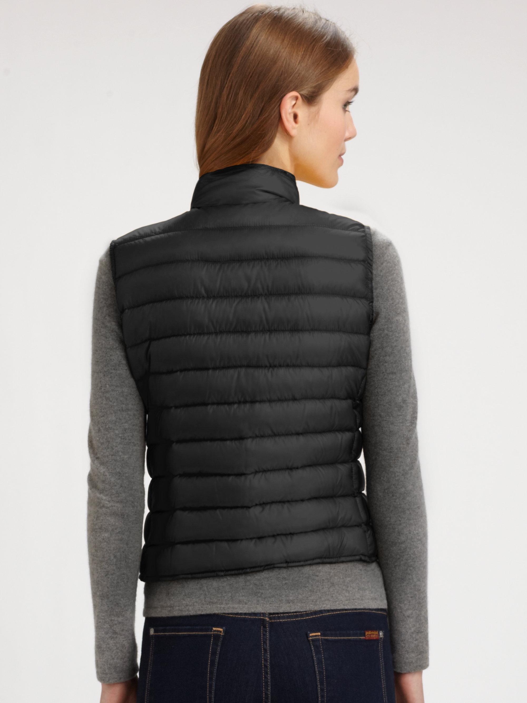 moncler liane vest black