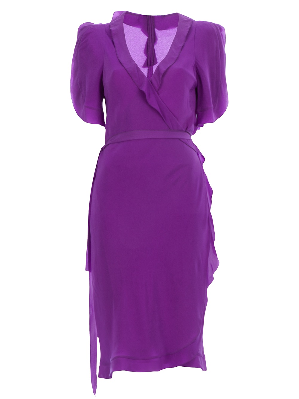 Sonia Rykiel Wrap Dress In Purple Lyst
