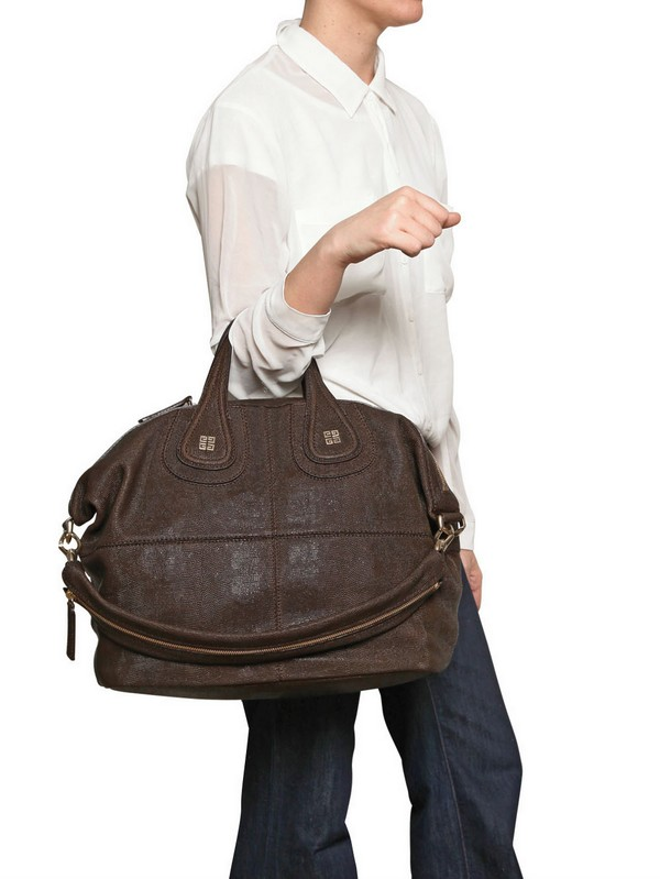 5a5b1efc988 buy givenchy bag online - Givenchy Medium Nightingale Lizard Effect Bag in  Brown   Lyst