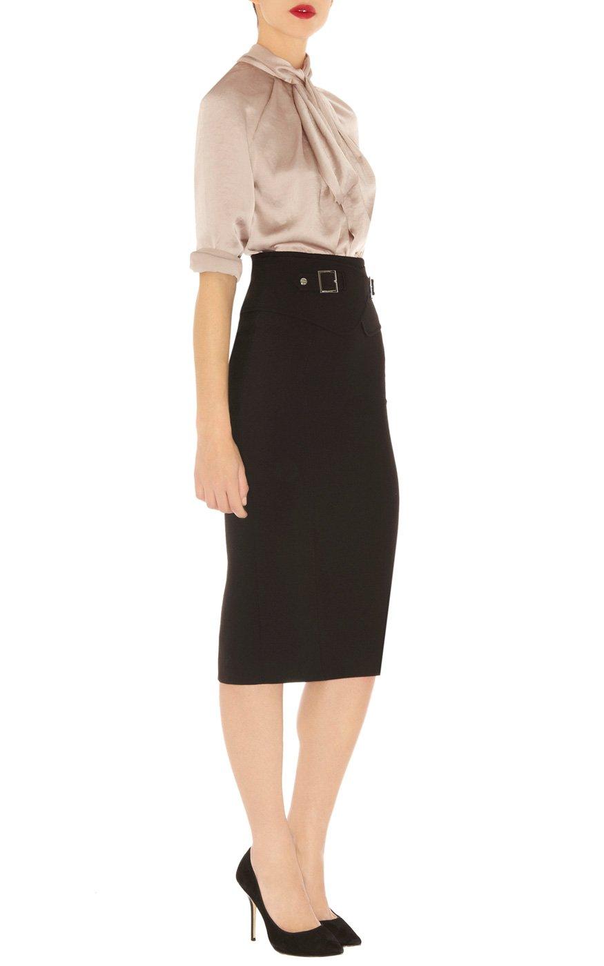 millen tailored pencil skirt in black lyst