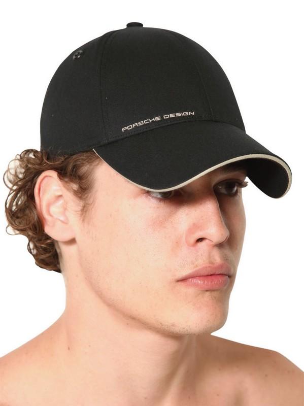 Porsche Design Stretch Cotton Golf Hat in Black for Men - Lyst 2e236b374103