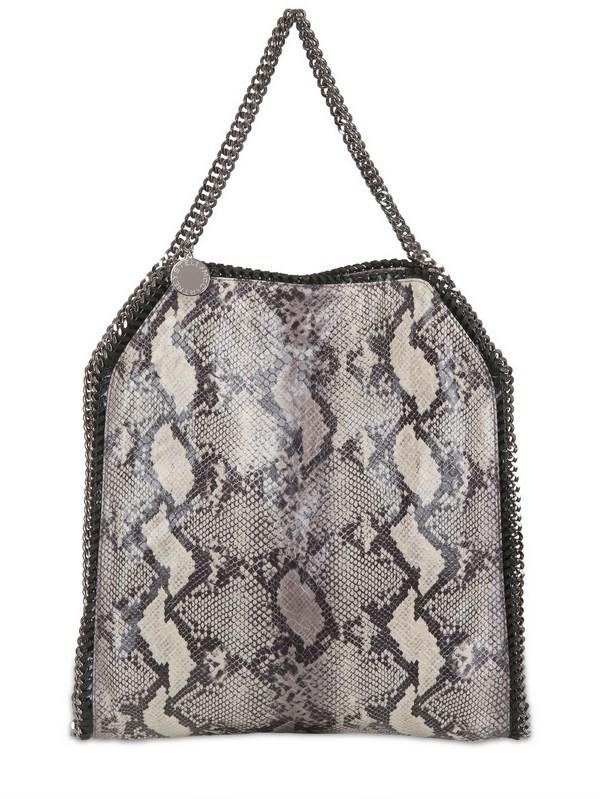2e765a4e0fd0 Stella McCartney Large Falabella Faux Python Bag in Gray - Lyst