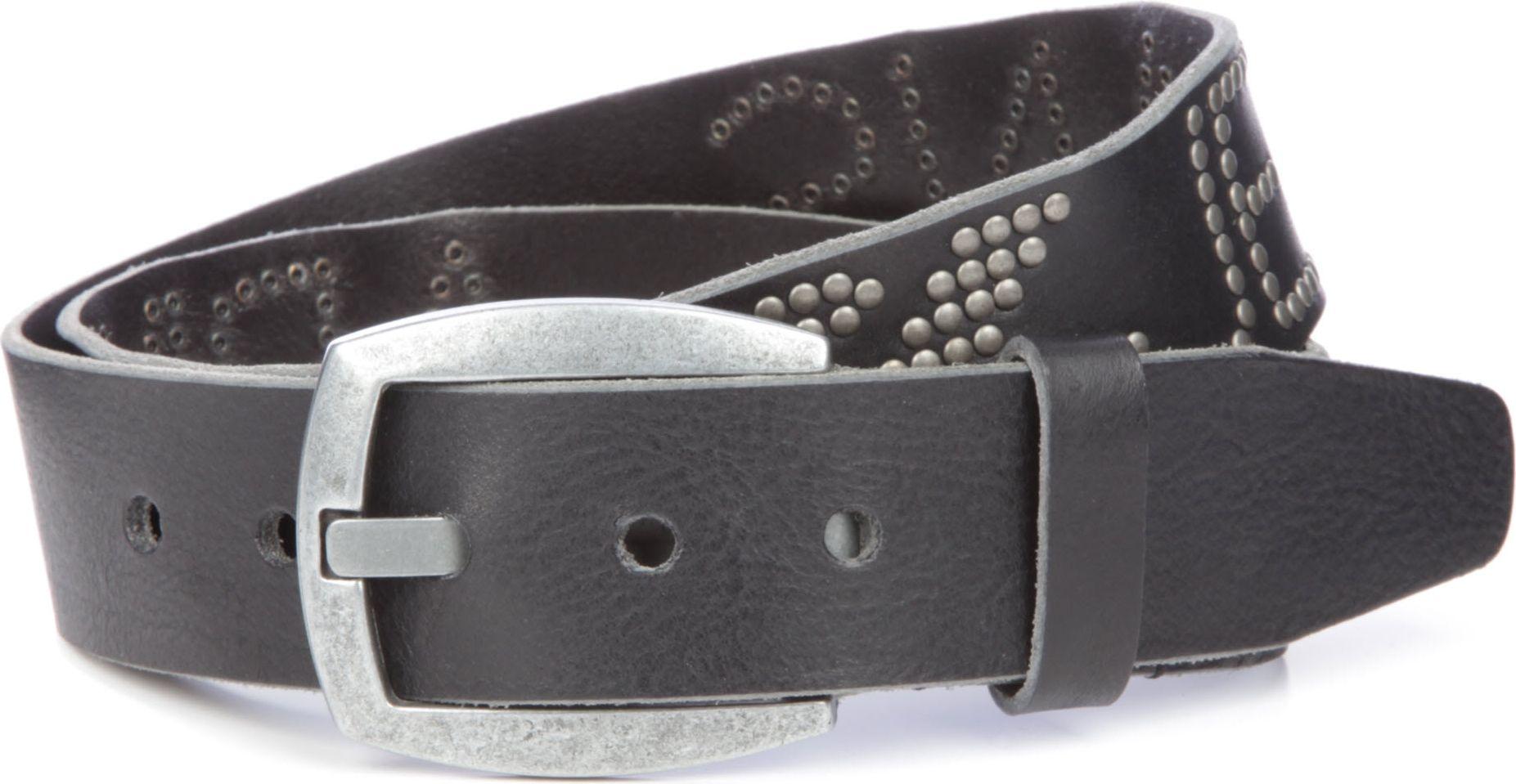 Lyst - Armani Jeans Studded Logo Belt in Black for Men