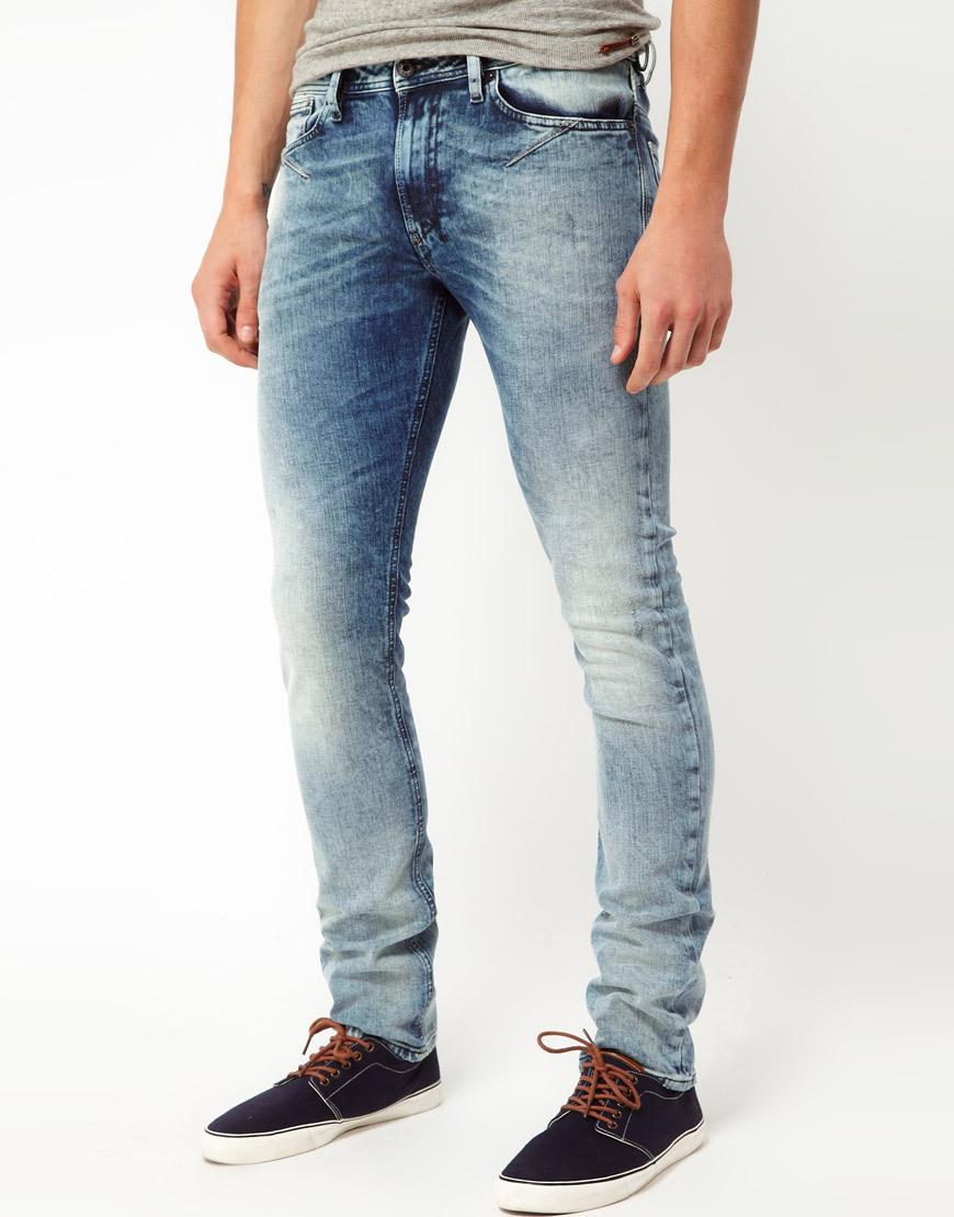 Diesel Skinny Fit Jeans in Blue for Men | Lyst