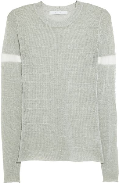 Dion Lee Reflective Knitted Sweater in Gray