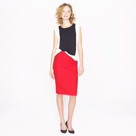 j crew no 2 pencil skirt in doubleserge wool in