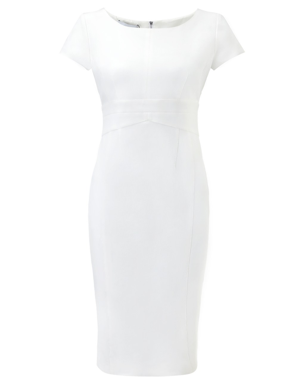 Narciso rodriguez White Cap Sleeve Pencil Dress in White ...