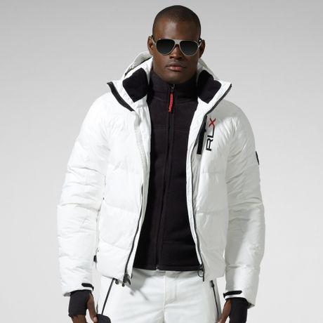 Rlx Ralph Lauren Puffer Jacket in White for Men | Lyst