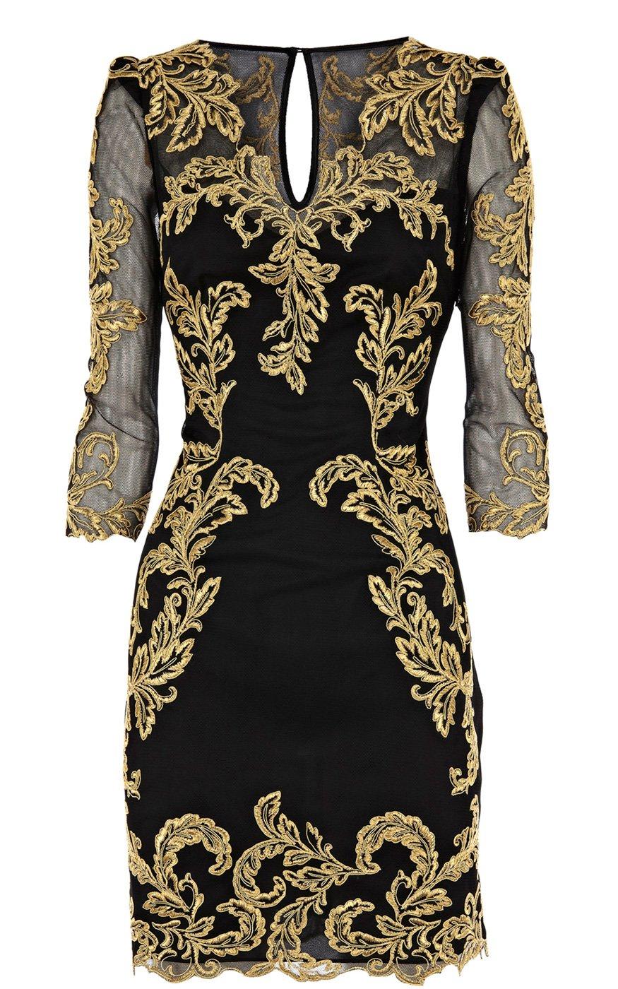 Lyst karen millen baroque mesh dress in black for Baroque design clothes