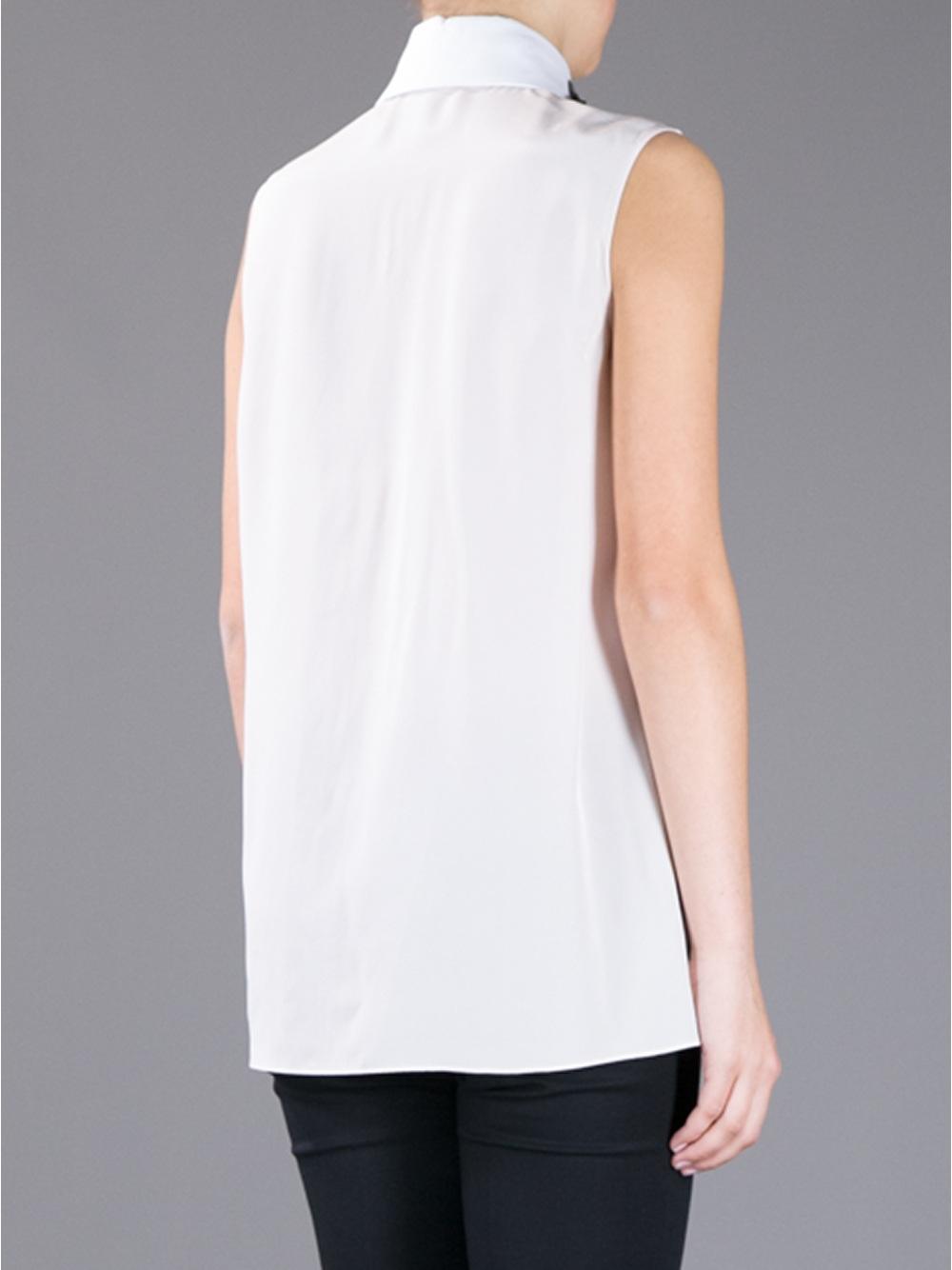 White Blouse Embellished Collar 92
