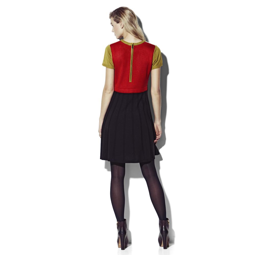 20c713e1ff8 Vince Camuto Colorblock Sweater Dress in Black - Lyst