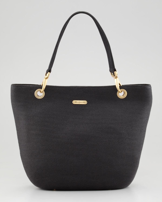 eric javits squishee clip tote bag in black lyst
