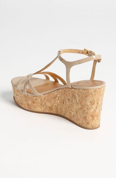 Kate Spade Wedge Sandal In Beige Nude Patent Lyst