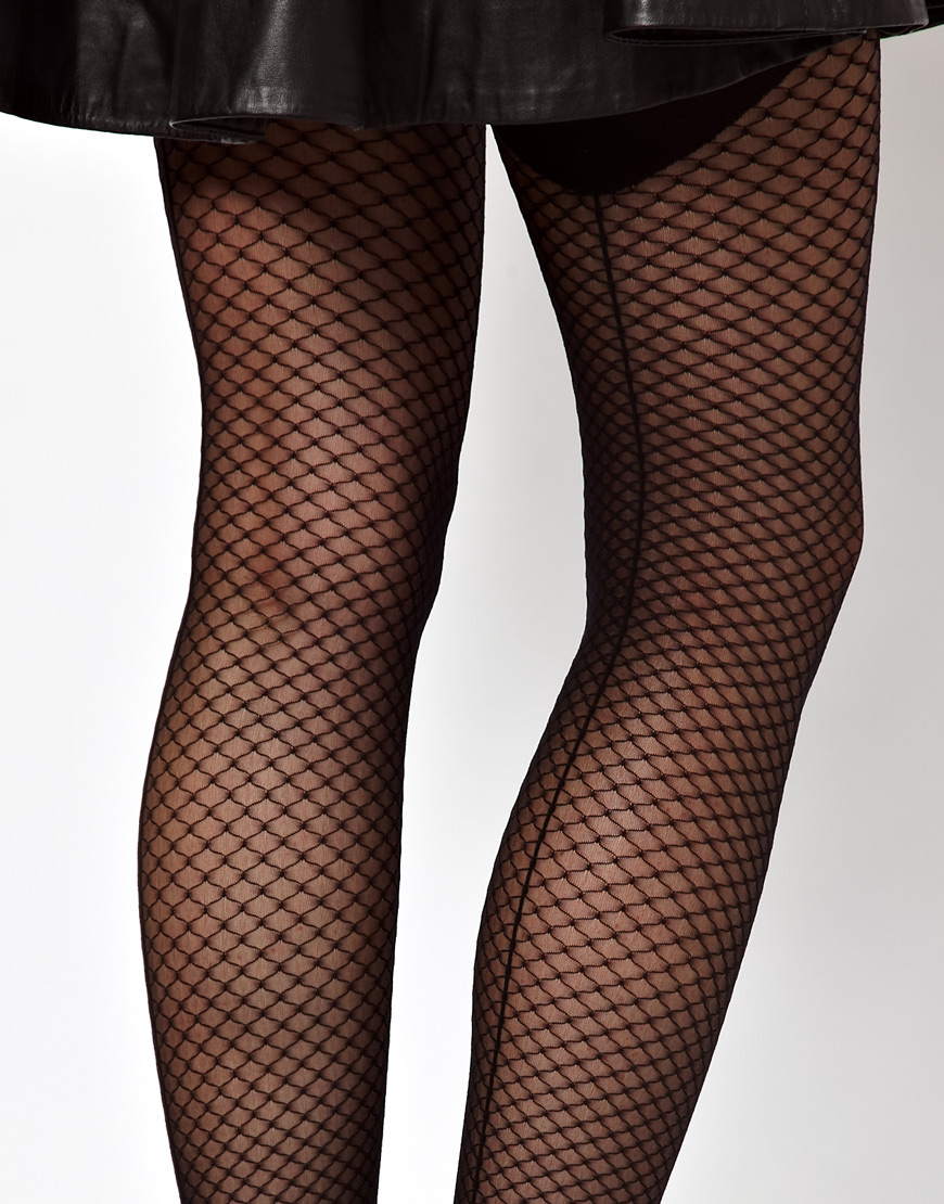 Wolford Neptune Back Seam Tights In Black Lyst