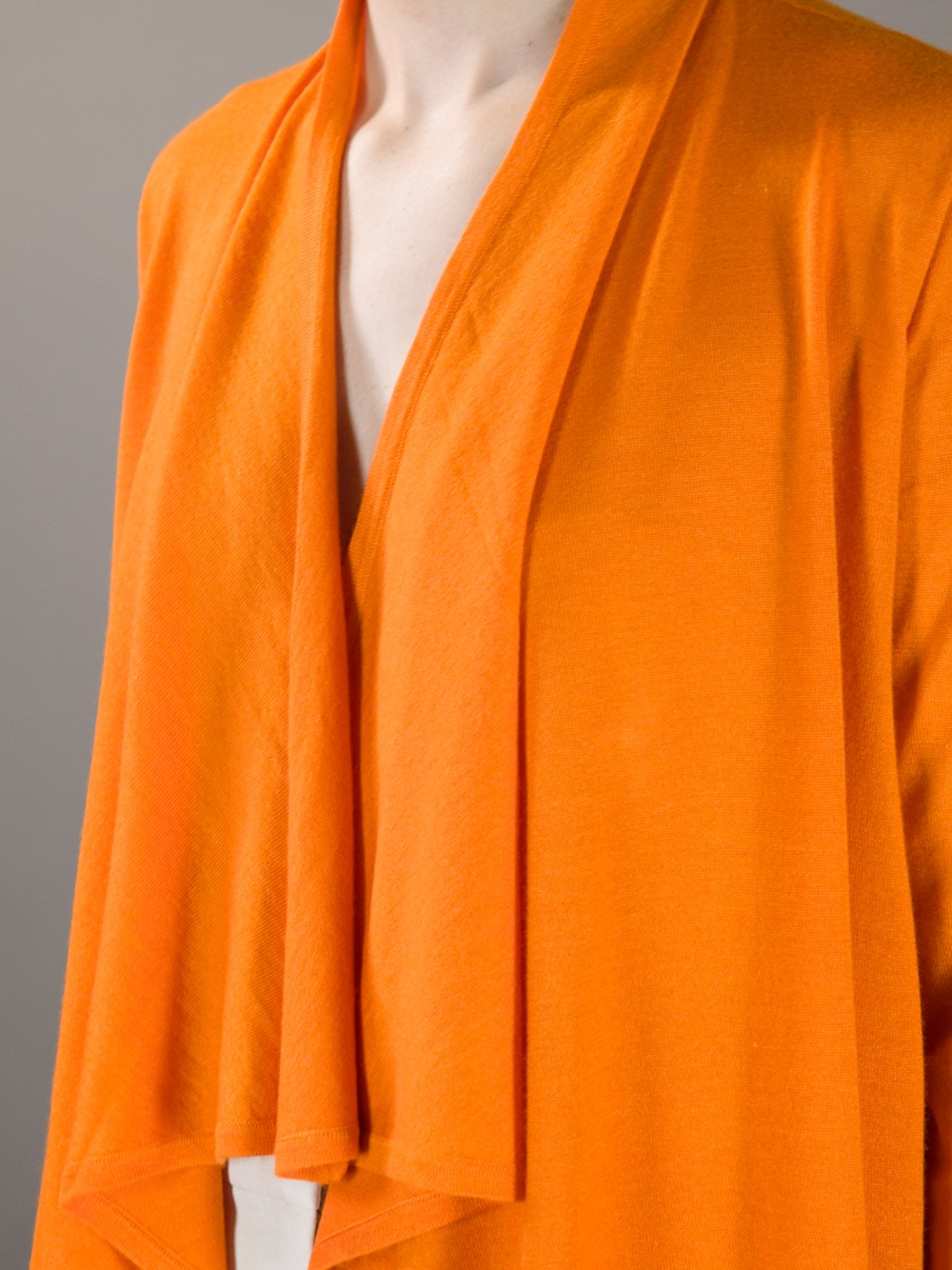 Ralph lauren black label Waterfall Cardigan in Orange | Lyst
