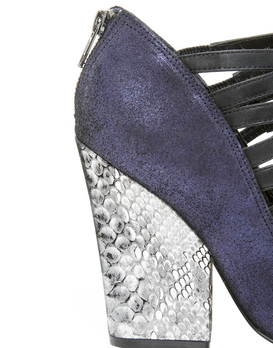 Lyst Asos Prone Metallic Pointed High Heels In Purple