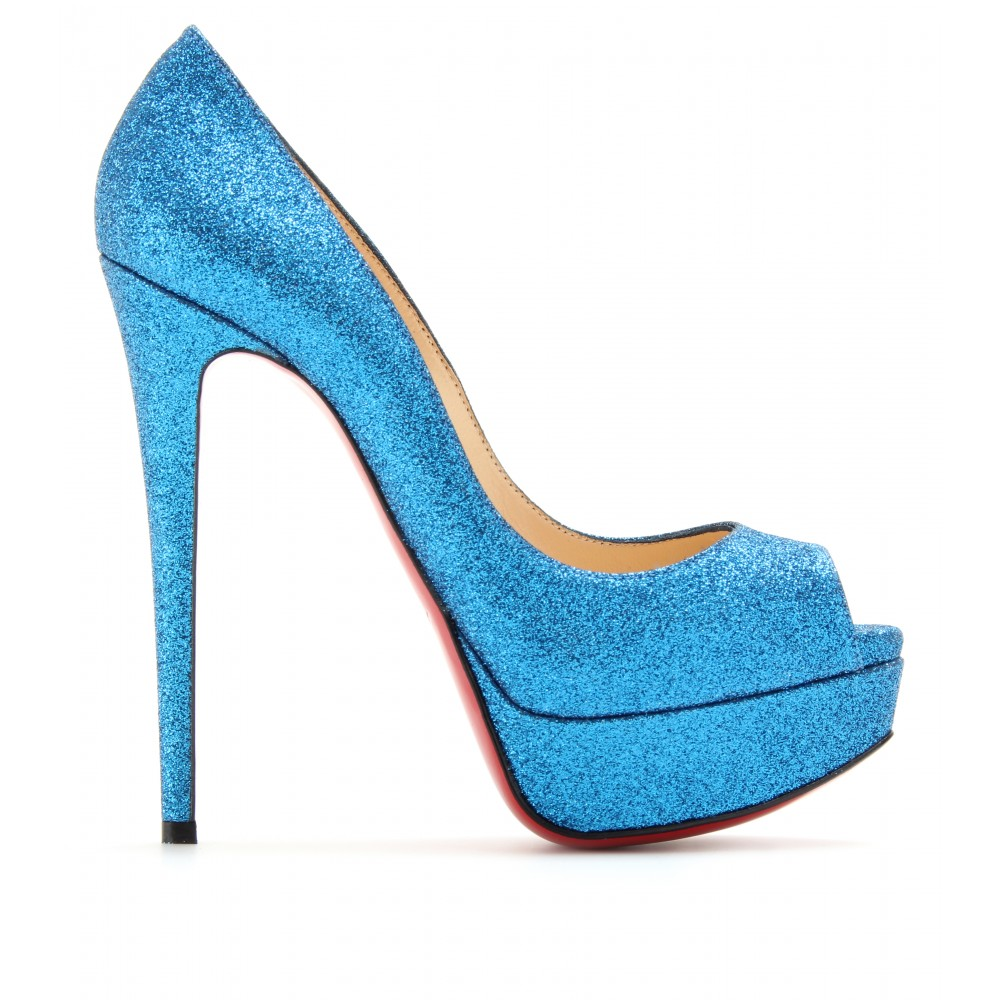 Shoeniverse: Louboutin Week - CHRISTIAN LOUBOUTIN Blue Lady Peep ...