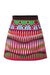 Peter Pilotto Crimson Redmulti Embroidered Front Natalie Skirt
