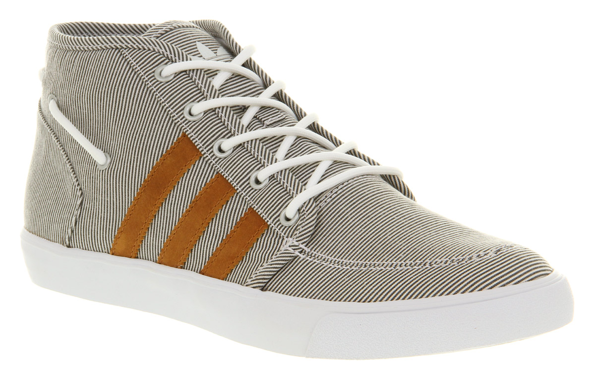 finest selection aafe0 1c358 Lyst - adidas Court Deck Vulc Mid Blk Micro Strpe in Gray fo