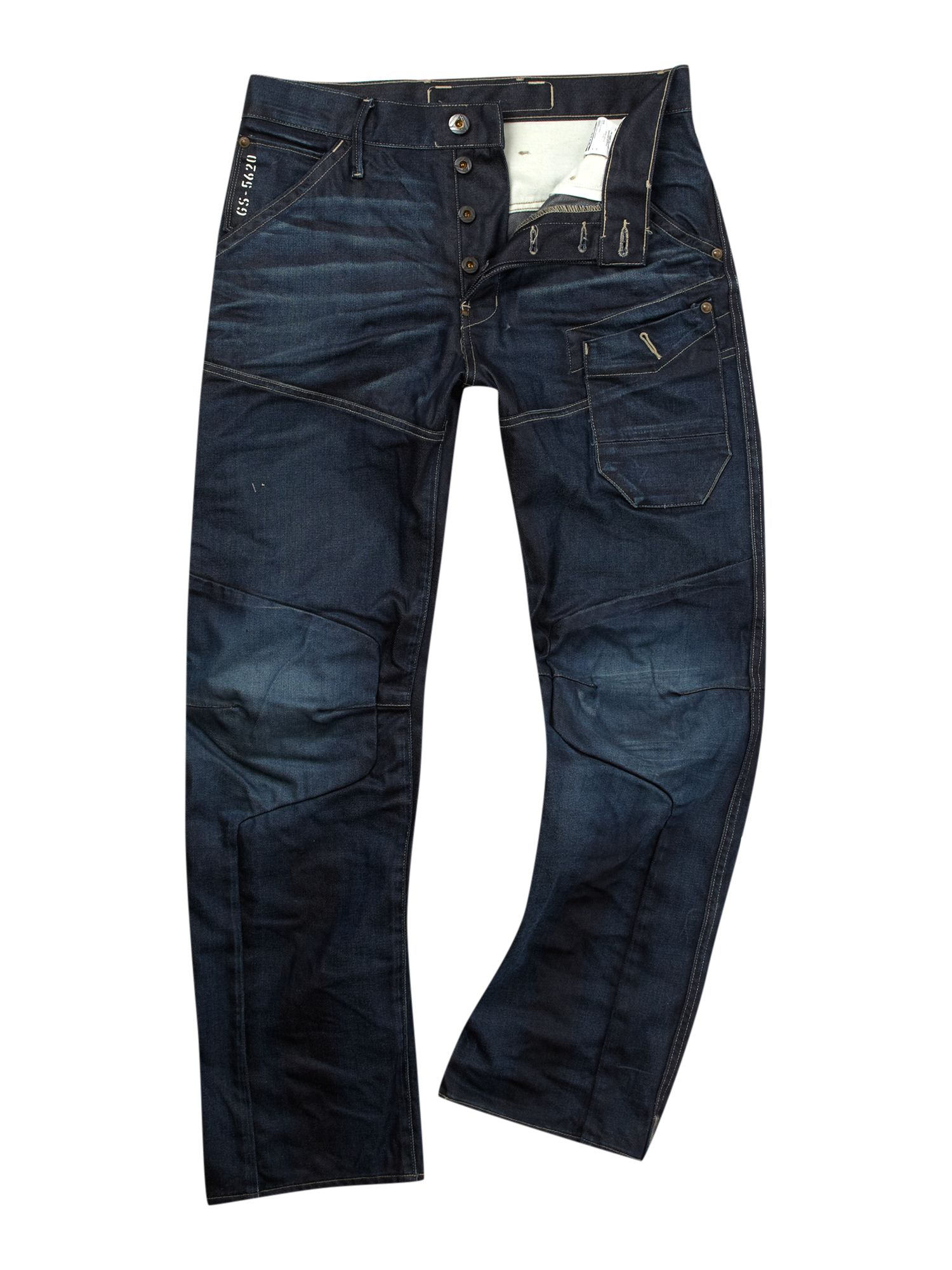 g star raw loose fit washed jeans in blue for men denim. Black Bedroom Furniture Sets. Home Design Ideas