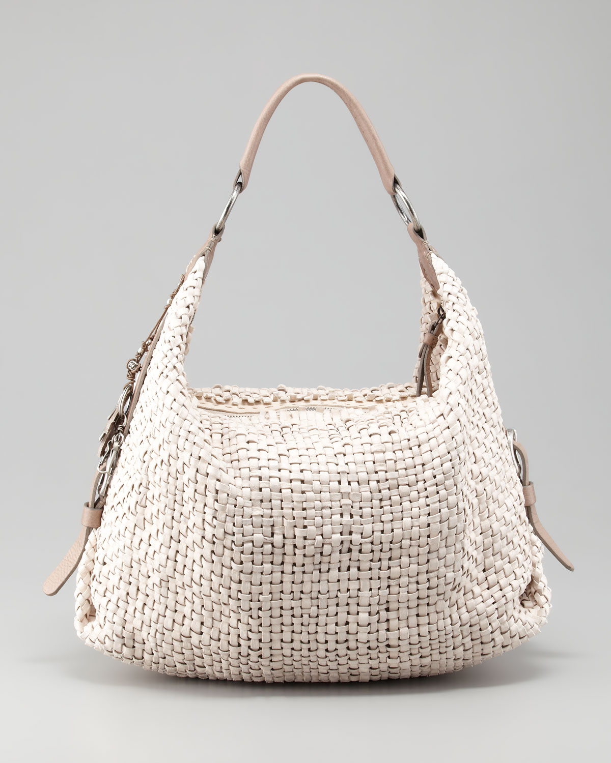 Henry beguelin Woven Leather Hobo Bag in Natural | Lyst