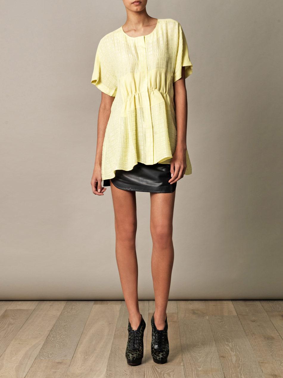 Lyst Balenciaga Leather Mini Skirt In Black