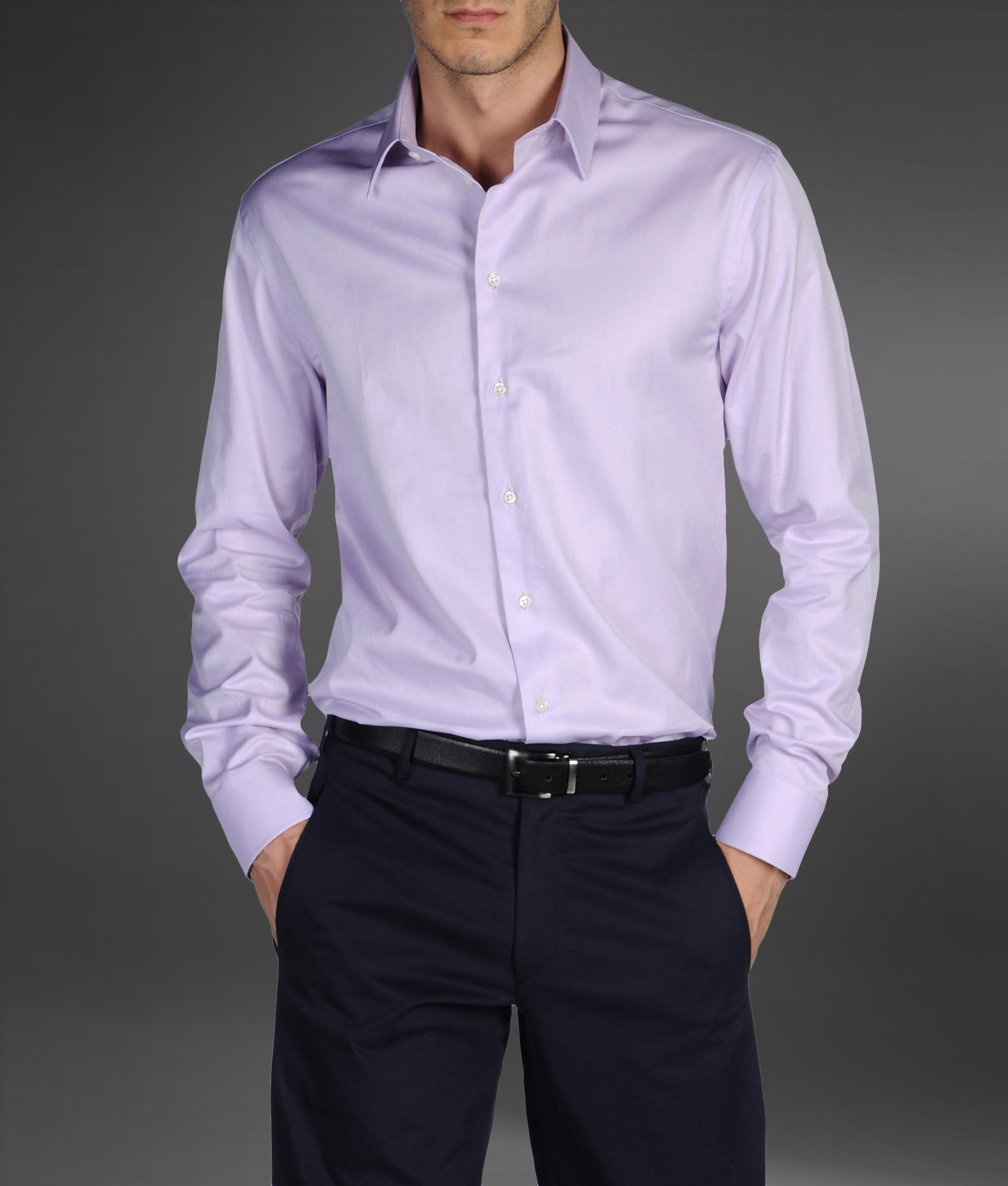 Light purple long sleeve shirt custom shirt Light purple dress shirt men