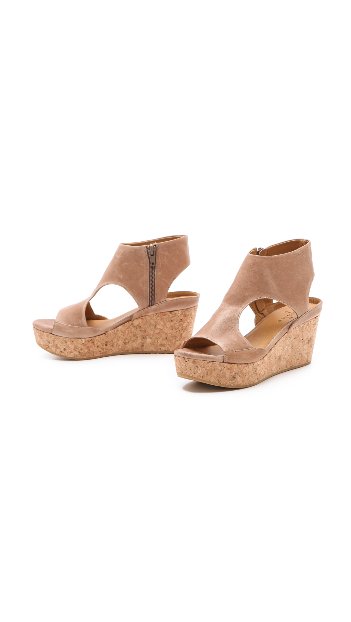 41c18ed4f39 Lyst - Coclico Mosaic Cork Wedge Sandals in Natural