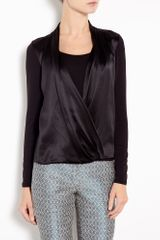 Michael by Michael Kors Wrap Front Jersey Top