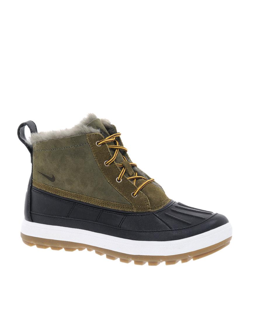 Lyst Nike Woodside Chakka Lace Up Duck Ankle Boots In Green
