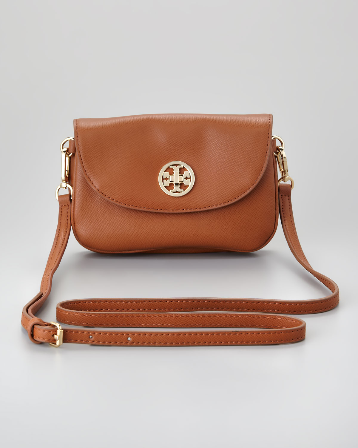 eef6ebe62bf3b Lyst - Tory Burch Robinson Double Gusset Crossbody Bag in Brown