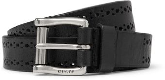 Gucci Perforated Leather Belt - Lyst