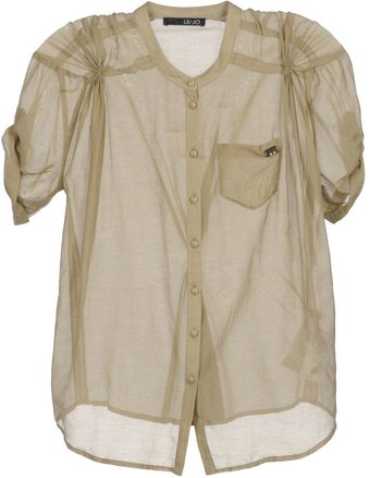 Liu Jo Short Sleeve Shirt - Lyst